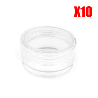 Clear Lip Balm Containers Pack of 10