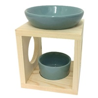 Timber Style Oil Burner - Teal