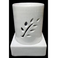 3 Piece Ceramic Oil Burner White